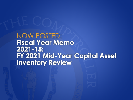 FY2021 Mid-Year Capital Asset Inventory Review
