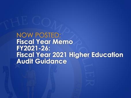FY2021-26: Higher Education Audit Guidance