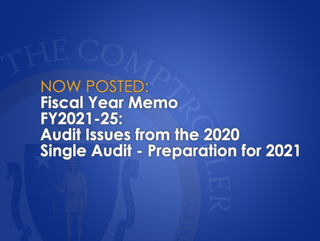 FY2021-25: Audit Issues from the 2020 Single Audit - Preparation for 2021
