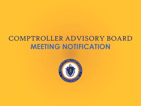 Comptroller Advisory Board Meeting - September 9, 2020