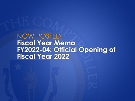 Official Opening of Fiscal Year 2022