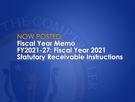 Fiscal Year 2021 Statutory Receivable Instructions