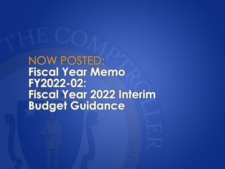FY2022-02: Fiscal Year 2022 Interim Budget Guidance