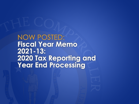 FY2021-13: Tax Reporting and Year End Processing