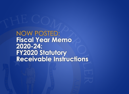 FY2020-24: FY2020 Statutory Receivable Instructions