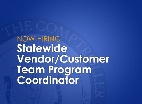 Now Hiring: Statewide Vendor/Customer Team Program Coordinator