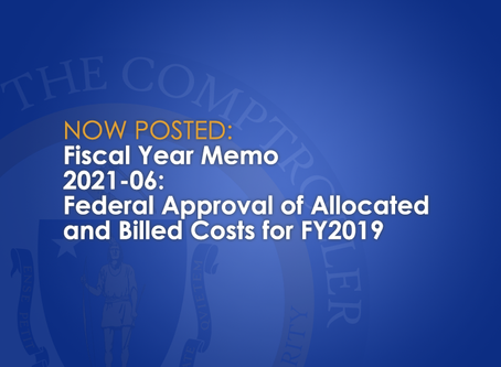 FY2021-06: Federal Approval of Allocated and Billed Costs for FY2019