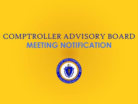 Comptroller Advisory Board Meeting: June 10, 2021