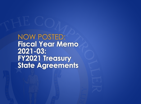 FY2021-03: FY2021 Treasury State Agreements