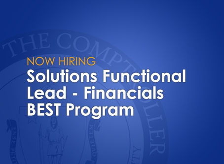 Now Hiring: Solutions Functional Lead-Financials with the BEST Program
