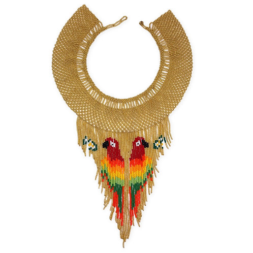 Collier papagayos de oro