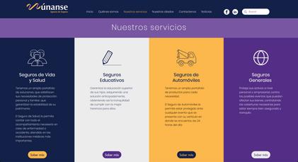 Site web de l'entreprise Únanse LTDA