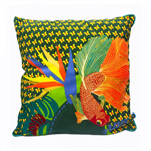 Coussin Macondo poissons d'or
