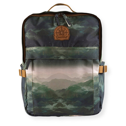 Square backpack Montagnes (vegan)