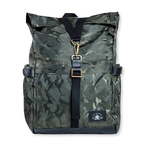 Biker backpack Cammo green