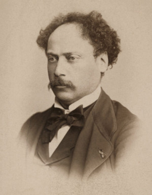 Dumas, Alexandre (Dumas fils) French writer, Paris 28.7.1824 ñ Marly bei Paris 27.11.1895. Portrait photo, 1869 (Reutlinger, Paris).