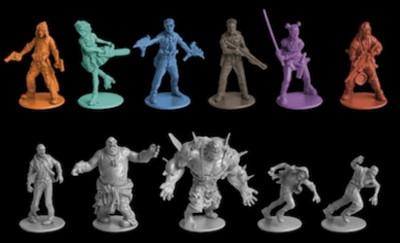 Zombicide figurines