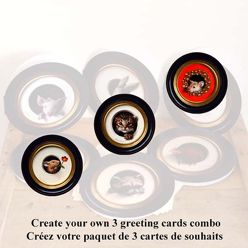 Combo 3 greeting cards
