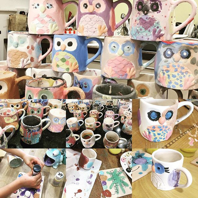 All the owl mugs! So lovely to have a gr