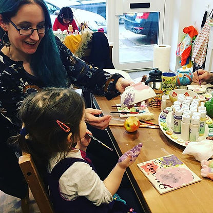 Mummy and daughter time at the Fired Fro