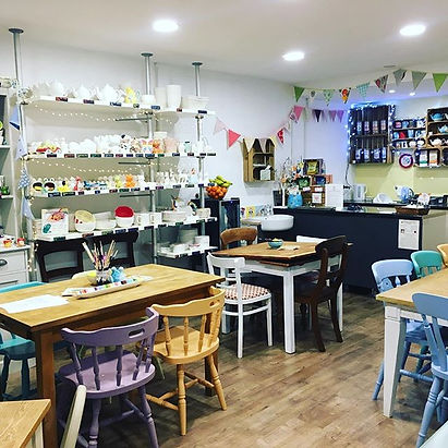 We open the doors for pottery painting t