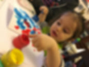 Toddler Pottery Painting