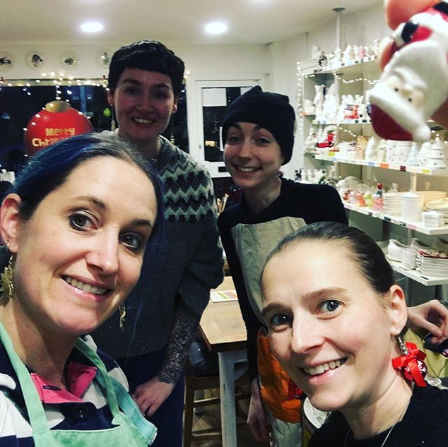 Advent Day 19_Staff Selfie with Tiny San