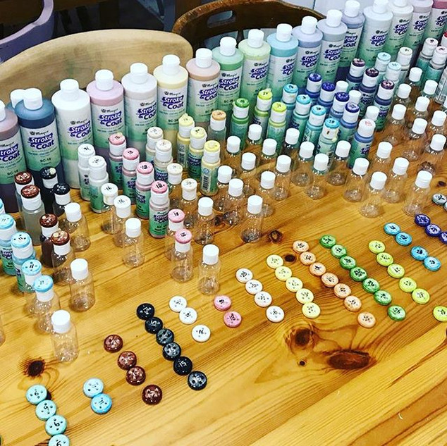 Look at all our lovely paints! We are ge