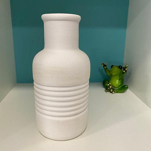 Textured Bud Vase (stripes)