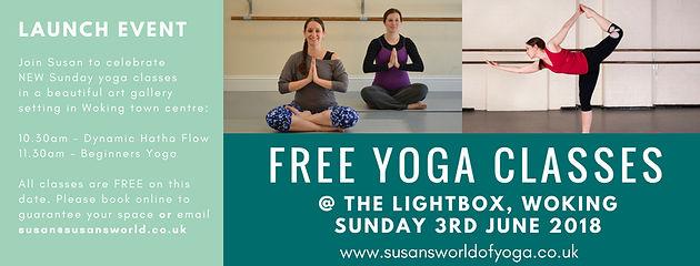 FREE Yoga classes @ The Lightbox on Sun 3rd June