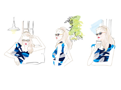 イワキ眼鏡「Lafont」コラボレーション広告