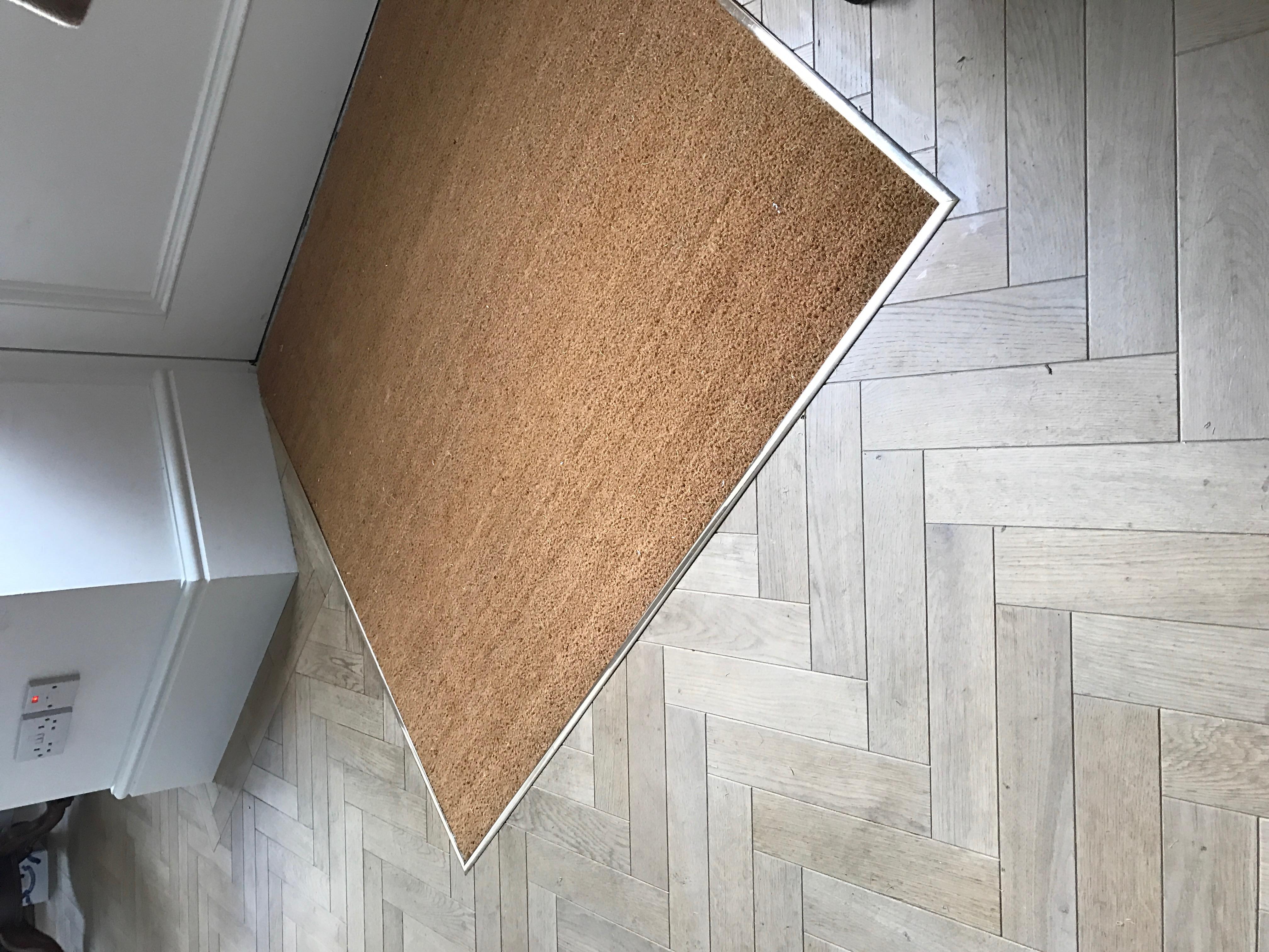Coir matting_Solid brass trim