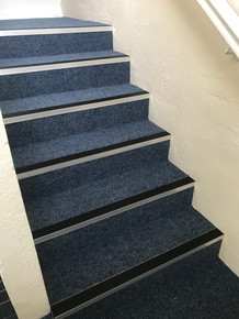 Stair nosing and Supacord Heavy Contract  carpet