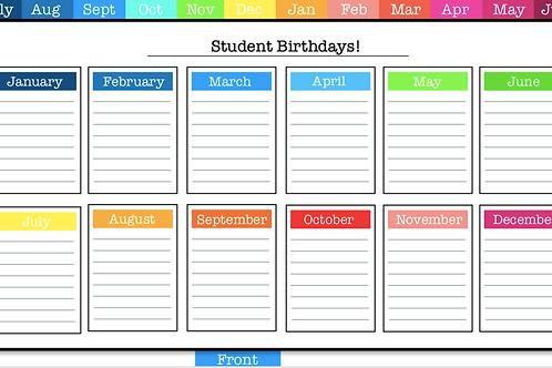 The Ultimate Digital Teacher Planner in Rainbow