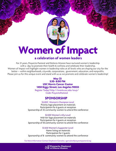 Proyecto Pastoral Women of Impact