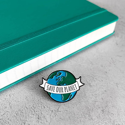 Save Our Planet Enamel Pin Badge