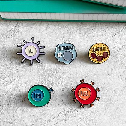 Immunology Enamel Pin Pack