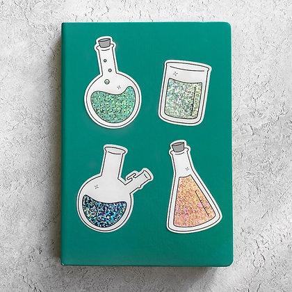 Chemistry Glassware Sticker Pack