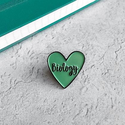 Biology Heart Enamel Pin Badge