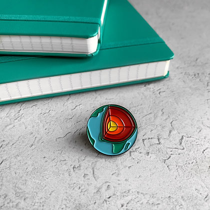 Earth's Layers Enamel Pin Badge