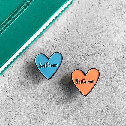 SciComm Heart Enamel Pin Badge