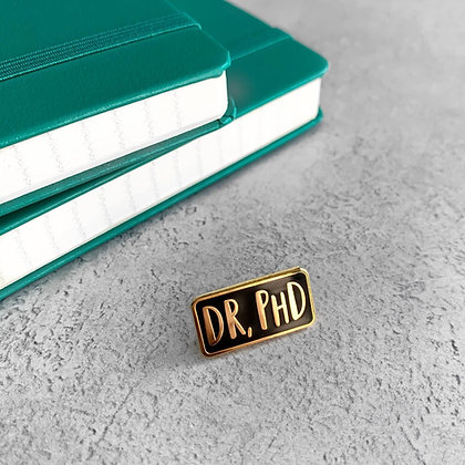 Dr, PhD Enamel Pin Badge