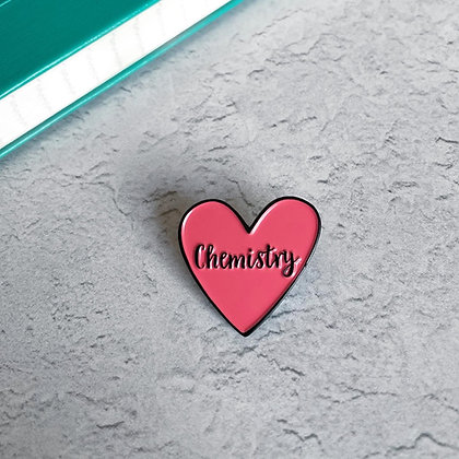 Chemistry Heart Enamel Pin Badge