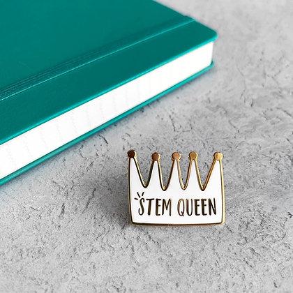 STEM Queen Enamel Pin Badge