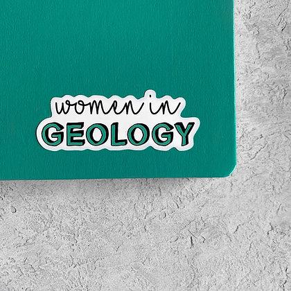 Women in Geology Sticker