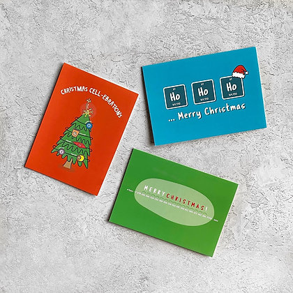 Multi-Packs of Science Christmas Cards
