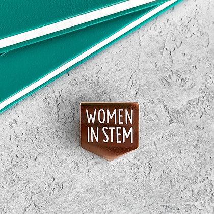 Women in STEM Enamel Pin Badge