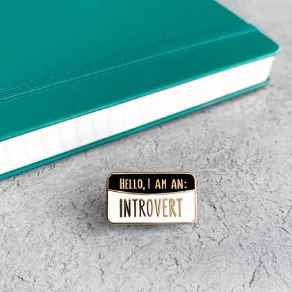 Introvert Enamel Pin Badge