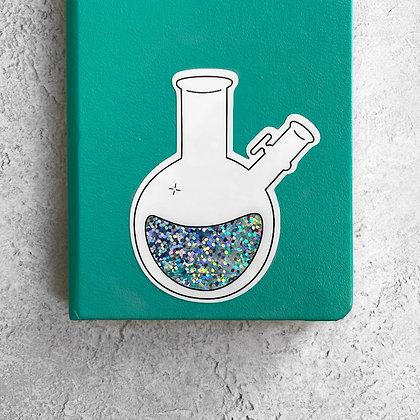 Schlenk Lab Flask Sticker