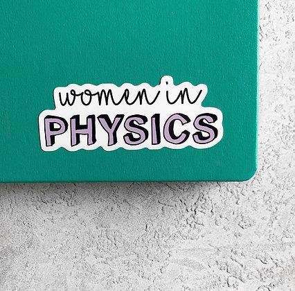 Women in Physics Sticker